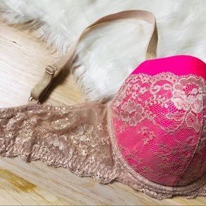 Victoria's Secret Intimates & Sleepwear - Victoria's Secret 36DD Bra Metallic Gold Pink